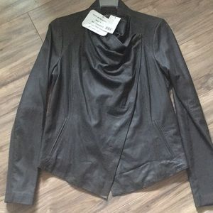 Vince scuba leather jacket size medium $950